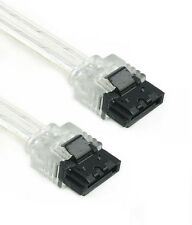 """18"""" Silver SATA III Cable 180 Straight to 180 Straight 6GB/Sec HDD SSD Gaming"""