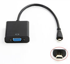 1080P Micro HDMI to VGA Video Converter Adapter Cable For PC Monitor Projector