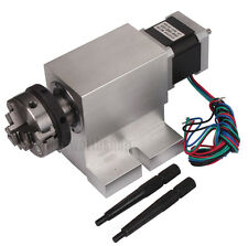 CNC Router Rotary Axis A-Axis 4th-Axis 50MM Chuck Dividing Head Gapless Harmonic