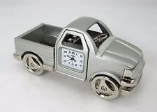 "Sanis  PICK UP TRUCK Silver Desk Clock Gift ""New in box"""