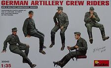 MINIART #35040 WWII German Artillery Crew Riders Figuren in 1:35