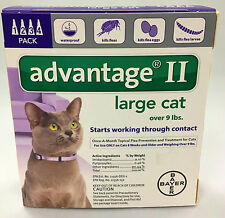 Advantage II for Cats 9lbs and over 4 pack