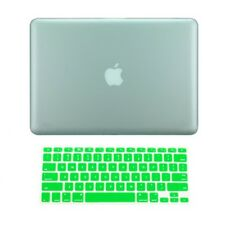 "2in1 GREEN Rubberized Case for NEW Macbook Pro 15"" A1398 / Retina display + Key"