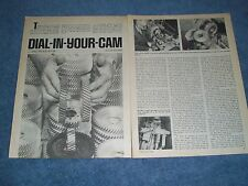 1979 Vintage Tech Info Article on Degreeing a VW Camshaft with Dial-In-Cams