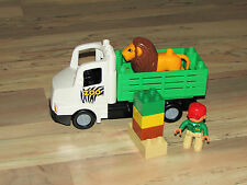 Lego Duplo Zoo Truck 6172 RETIRED Set Lion Keeper Figures Safari  COMPLETE