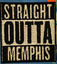STRAIGHT OUTTA MEMPHIS MOTORCYCLE BIKER EMBROIDERED VEST PATCH IRON ON