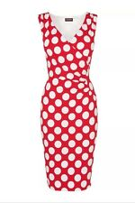 BNWT Phase Eight / 8 Red &White Sicily Spot Dress  Size 12