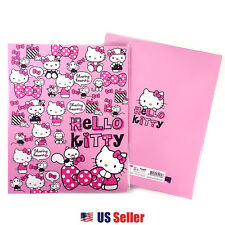 Sanrio Hello Kitty Hard Cover 3 Ring Binder School Folder File : Ribbon
