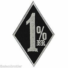 1%ER One Percenter Slogan Funny Biker Outlaw Motorcycle Iron-On Patches #B009