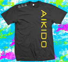 Aikido - T Shirt -  6 colour options - Small to 3XL - with shoulder print - New