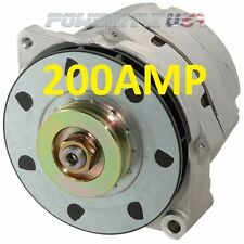 200AMP HIGH OUTPUT AMP ALTERNATOR Fits DELCO 12SI 1-WIRE ONE WIRE 200AMP