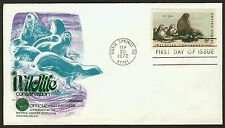 #1464 8c Fur Seal, Fleetwood FDC **ANY 4=FREE SHIPPING**