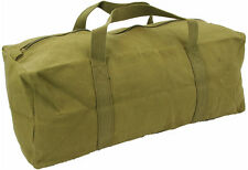 Mens Equipment Heavy Duty Canvas Tool Travel Canvas Pack Surplus Bag Green New