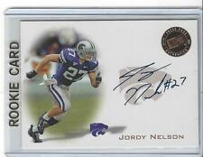JORDY NELSON 2008 Press Pass AUTO Rookie RC K-State Wildcats Packers