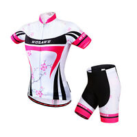 New Casual Women Team Cycling Jersey Shirt Shorts Kits Bicycle Tops Short Sleeve