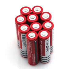 10pcs 18650 3.7v Rechargeable Li-ion Battery Red Batteries From USA