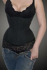 STEEL BONING Best Selling Training Corset in WORLD Meschantes Black PLUS SIZE