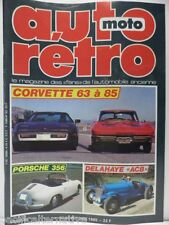 Revue AUTO RETRO moto magazine n° 62 - octobre 1985 collection corvette delahaye