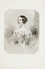 "Steel Engraving from ""HEATH'S BOOK OF BEAUTY"" - Miss Dymoke - 1844"