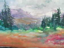 IMPRESSIONISM  LANDSCAPE  Millie Gift Smith  Signed [2000-Now] mountains pines