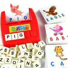 Kids Toy Fun Learning English Spell Word Scrabble for Early Child Educational LZ