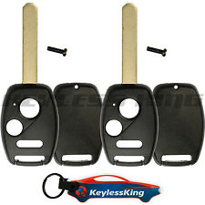 2 Remote Key Fob Shell Pad Case for 2010 2011 2012 2013 2014 Honda Insight