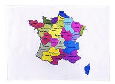 Coloré carte de france-large coton torchon