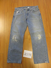 levi 501 destroyed feather grunge jean tag 38x30 Meas 36x29 20899F