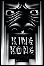 KING KONG ART DECO MOVIE POSTER STYLE B LARGE SILVER LTD EDITION SCREEN PRINT