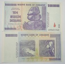 "ZIMBABWE ""UNC"" $10,000,000,000 TEN BILLION DOLLARS BANKNOTE ~ UK Post From 55p."