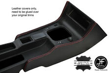RED STITCH 2X CONSOLE SIDE TRIM LEATHER COVERS FITS FIAT COUPE 1994-2000