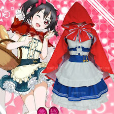 Cosplay Costume Love Live Nico Yazawa little red riding hood Hallowmas Dress
