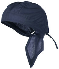 Do Rag Durag DooRag NAVY BLUE Motorcycle Skull Cap Biker Bandana Chemo Headwrap