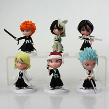 Bleach 6pc PVC Mini Cute Figures Set Ichigo Rukia Renji Kisuke Ulquiorra Toshiro