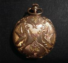 Ladies Multi-Color 14K Gold, Hunting Case Pocket Watch, Elgin National Watch Co.