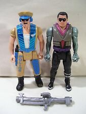 LOT OF 2 VINTAGE ROBOCOP ACTION FIGURES ACE DR MCNAMARA 1988 ULTRA POLICE CAP