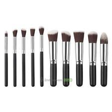 10pcs Kabuki Style Professional Makeup Brush Sets Foundation Blusher Face Powder