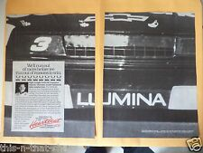 DALE EARNHARDT SR. NASCAR CHEVY LUMINA  1990 MAGAZINE 2- PAGE AD BLACK AND WHITE
