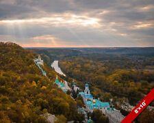 SVJATOHIRSKÁ HOLY MOUNTAINS MONESTARY UKRAINE LANDSCAPE PHOTO ART CANVAS PRINT
