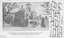 State Hospital for the Insane Main Entrance Yankton, SD Asylum Postcard 1909