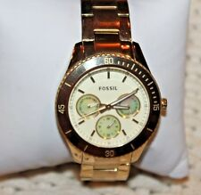 VERY NICE Fossil ES2820 Stella Stainless Steel Watch - Gold-Tone F80/B