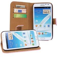 Samsung GALAXY NOTE 2 N7100 custodia in pelle a portafoglio nero flip case cover