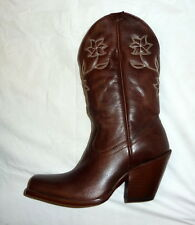 Star Boots W6010 Size 7B Womens Manchester Western Cowgirl Boots CHOCOLATE NEW