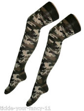 Over The Knee Army Camouflage Style Socks Fancy Dress Army Football Soldier Hen