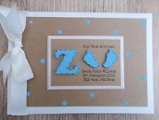 Personalised Newborn Baby Boy Photo Album Scrapbook/Memory Gift With Box
