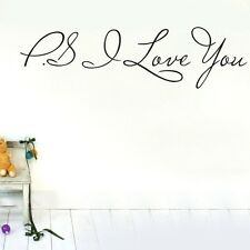 PS I love you Wall Quotes decal Removable Stickers Decor Vinyl Home Art DIY