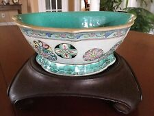 Antique Chinese Porcelain Famille Rose Footed Bowl Tongzhi Marked