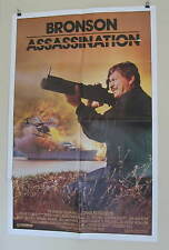 "ASSASSINATION ORIGINAL USED American MOVIE POSTER 1987 27"" X 41 Bronson/Irland"