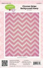 "JUSTRITE CLING Stamps CHEVRON STRIPE BACKGROUND STAMP CL-03610 4.5"" x 5.75"""