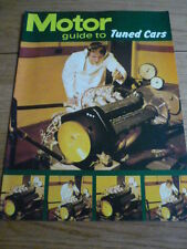 "MOTOR GUIDE TO TUNED CARS SUPPLIMENT ""Brochure"" jm"